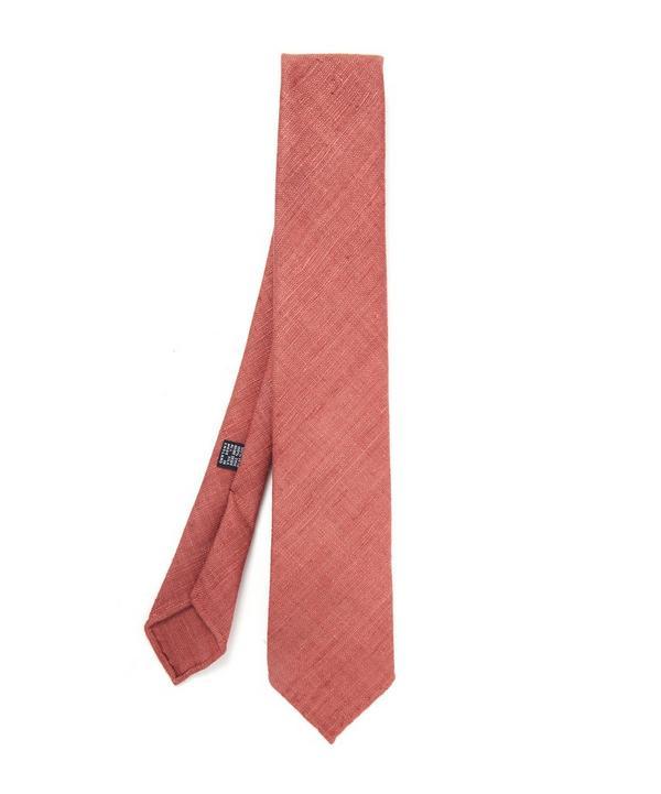 Purple Handrolled Silk Tie