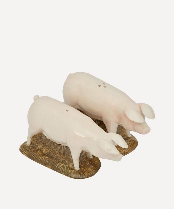 British Lop Pig Stoneware Salt and Pepper Shakers