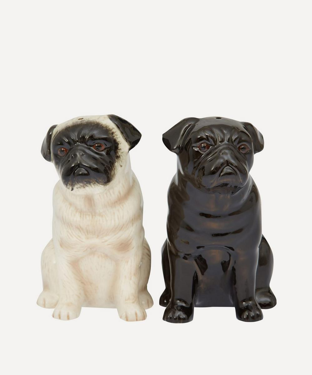 Pug Stoneware Salt and Pepper Shakers