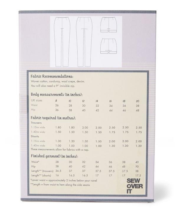 Trouser and Short Pattern Sewing Kit