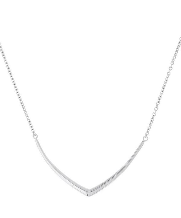 Cushion Chevron Necklace in Sterling Silver