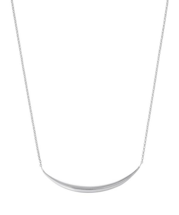 Silver Signature Tapering Bar Necklace