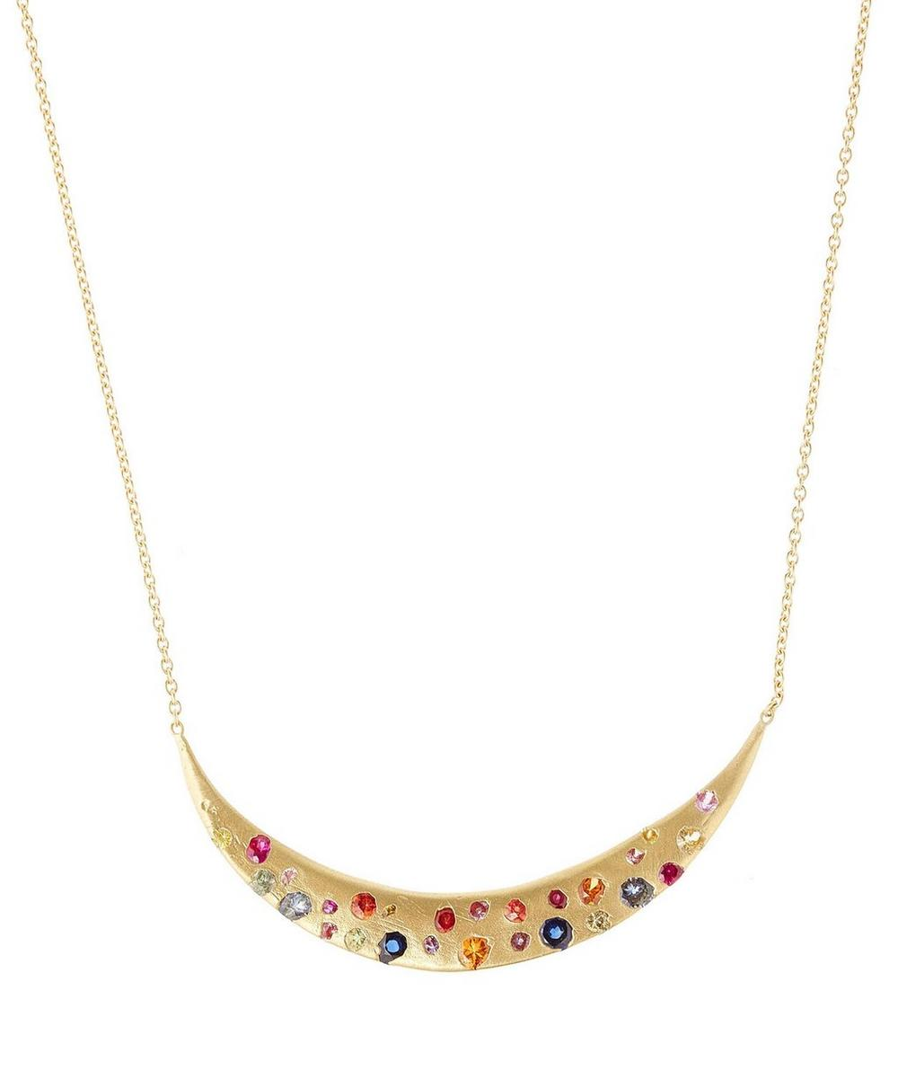 Large Gold Rainbow Eclipse Necklace