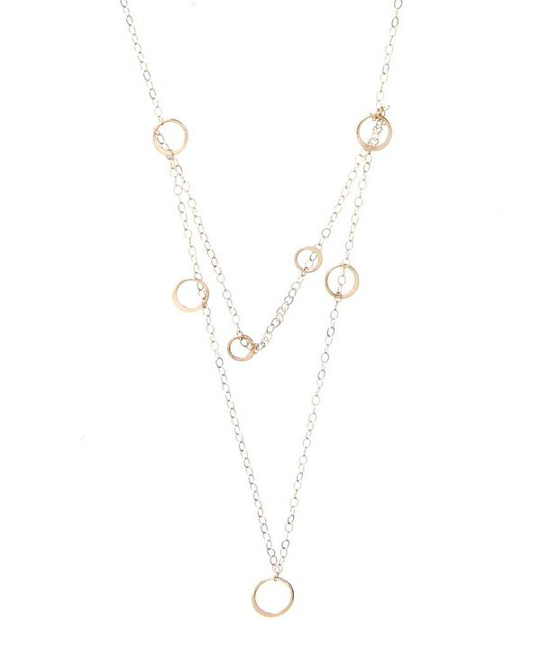 Gold Two Strand Ring Necklace