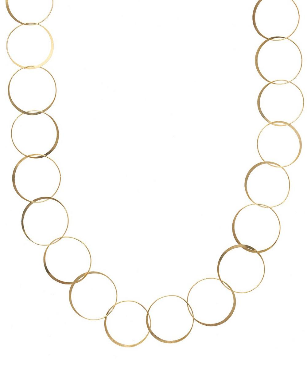 Gold Hammered Chain Necklace