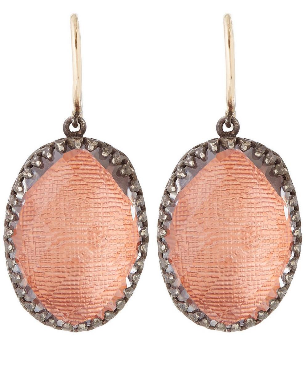 Silver Topaz Lily Drop Earrings