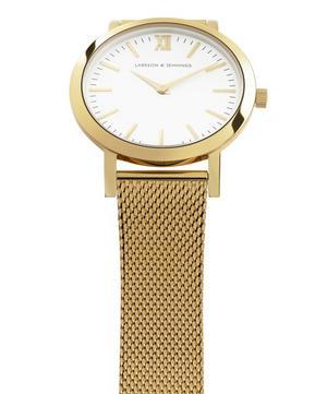 Lugano 33mm Gold-White Milanese Watch