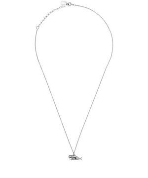Black Rhodium Whale Pendant Necklace