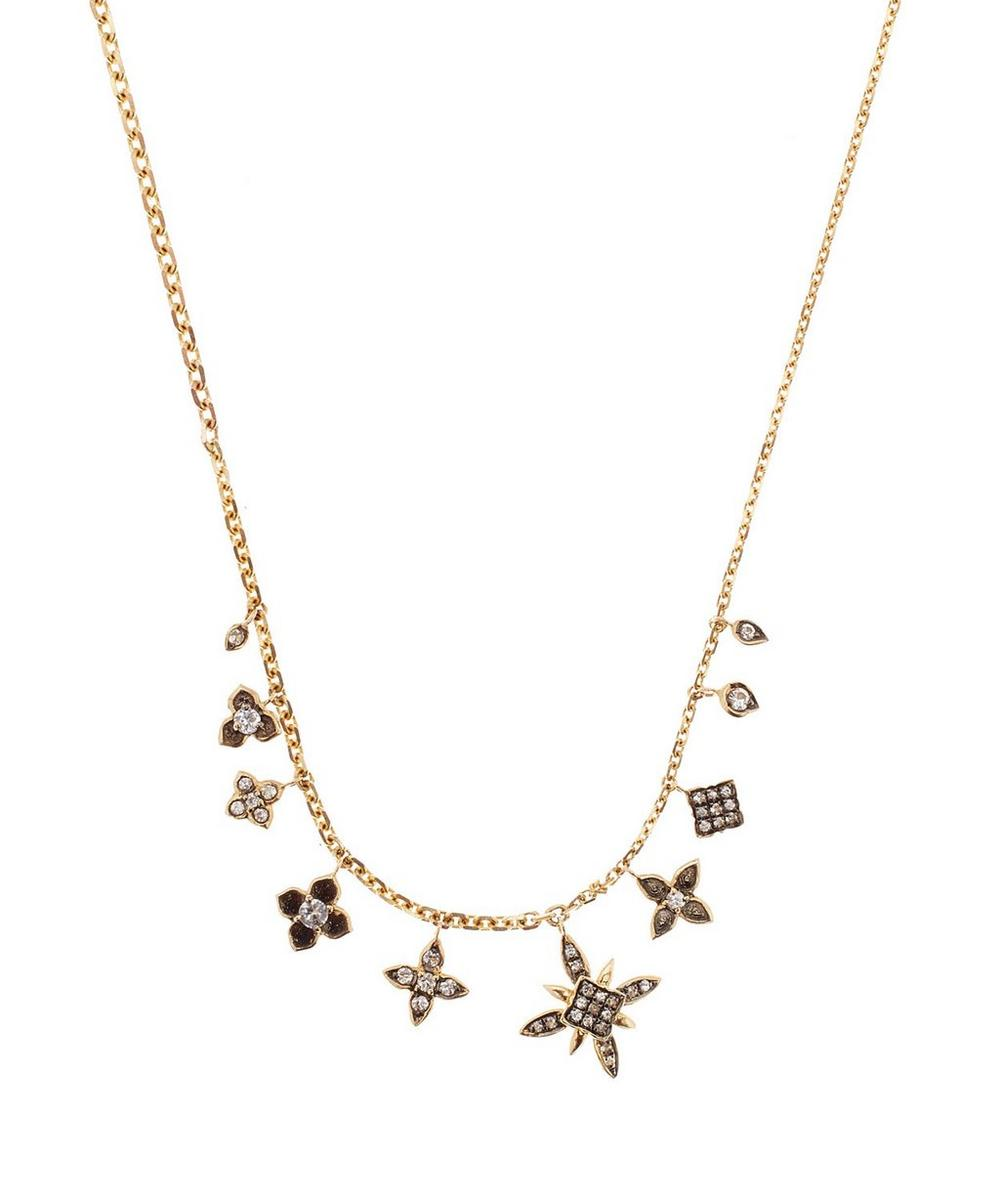 Gold and Sapphire Frost Necklace