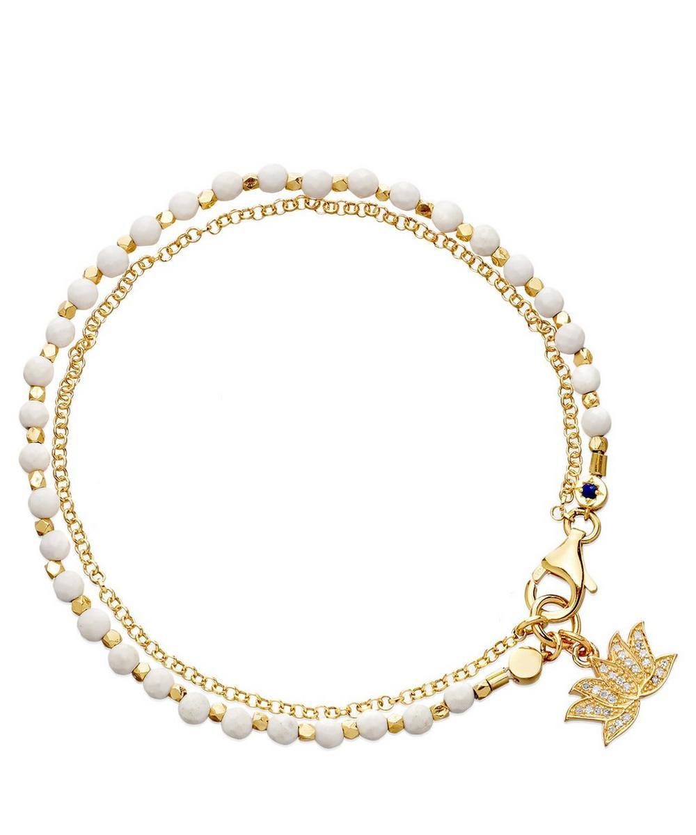 Agate Lotus Biography Bracelet