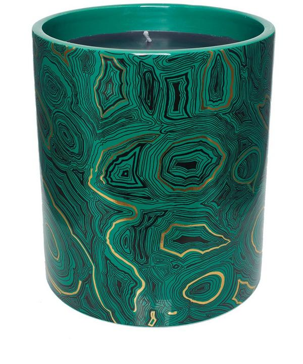 Large Malachite Scented Candle