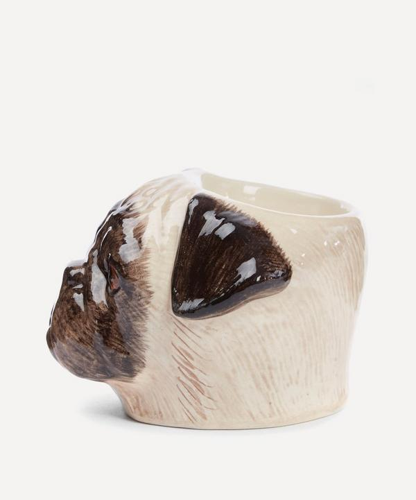 Pug Face Stoneware Egg Cup