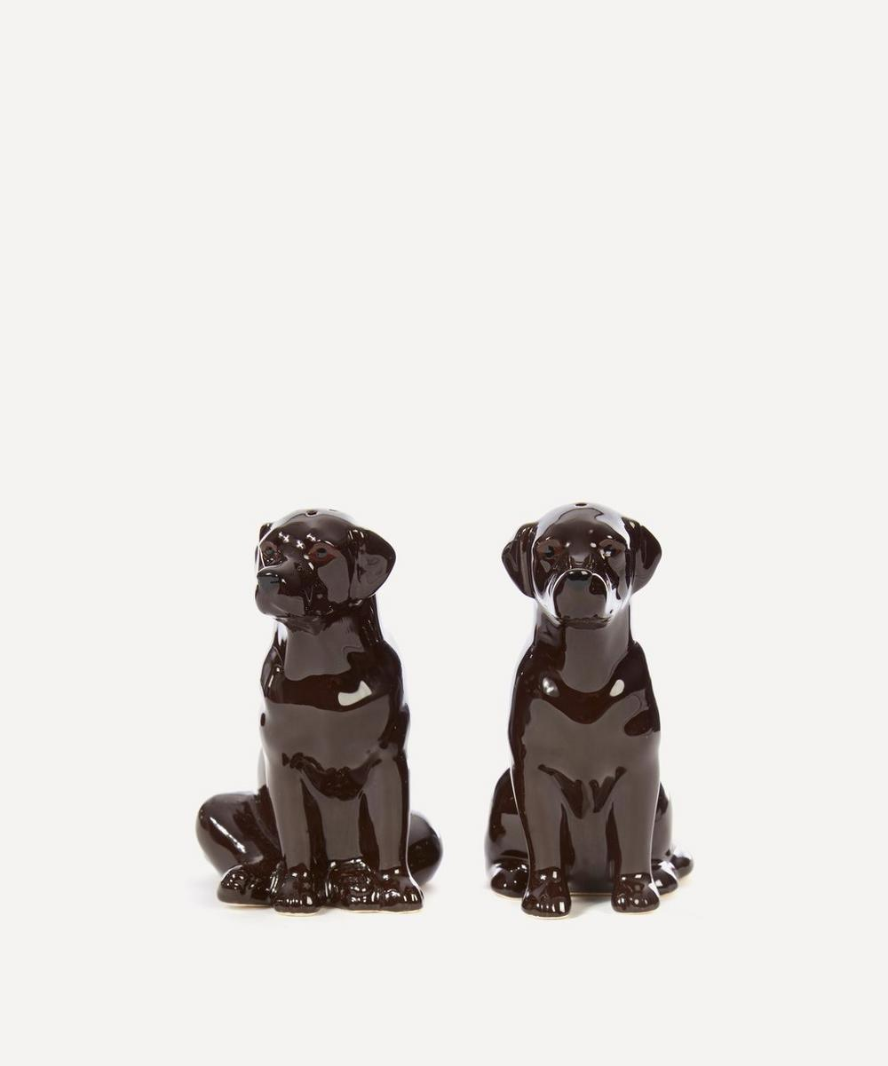 Chocolate Lab Stoneware Salt and Pepper Shakers
