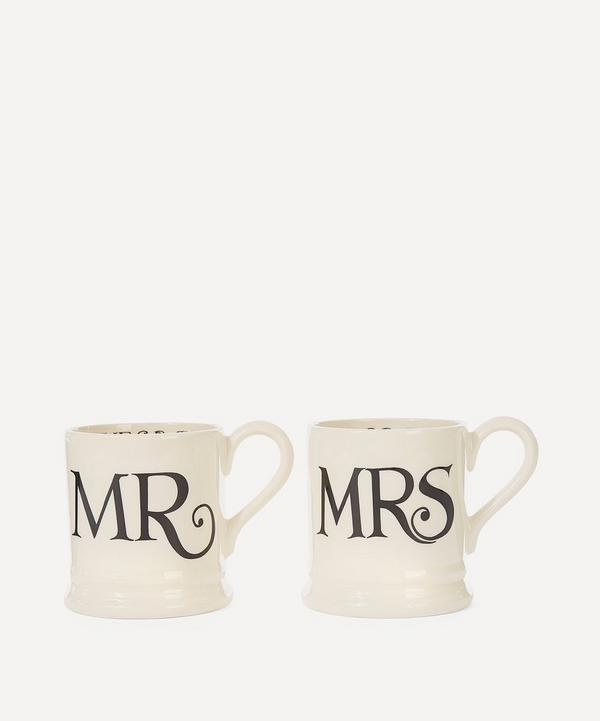 Set of Two Mr. and Mrs. Mugs