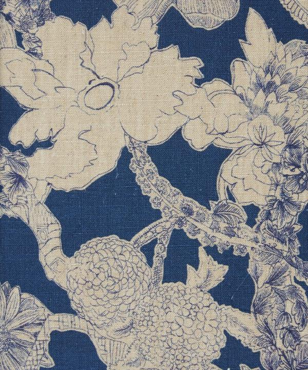 Zenor Forest linen in Deep Blue
