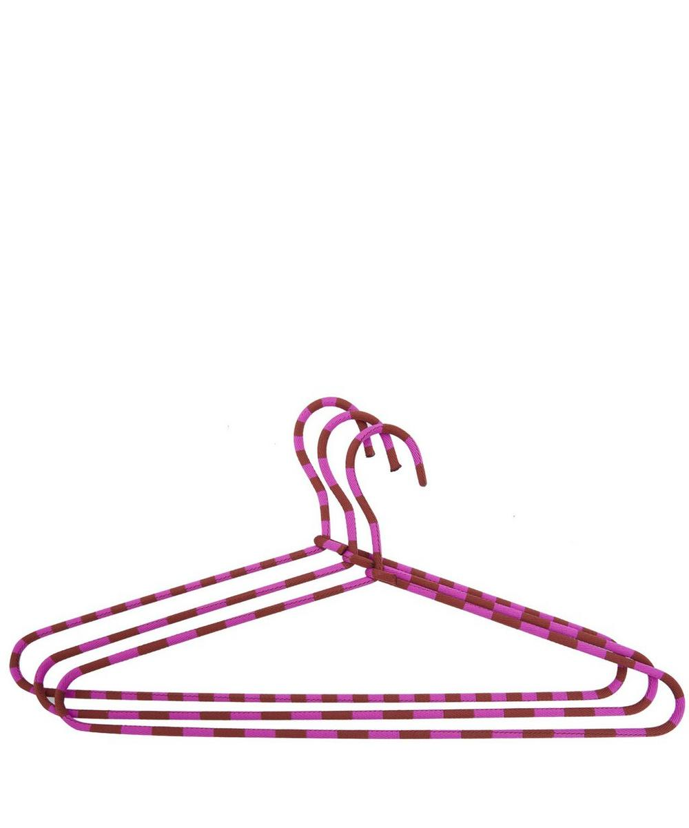 Cord Stripy Set of Three Hangers