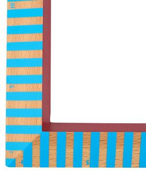 Stripy Wooden Triangle Ruler