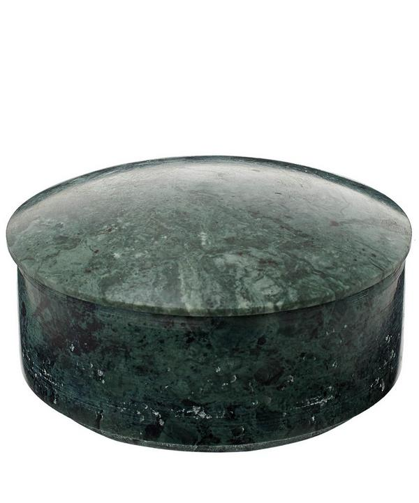 Small Green Marble Lens Box
