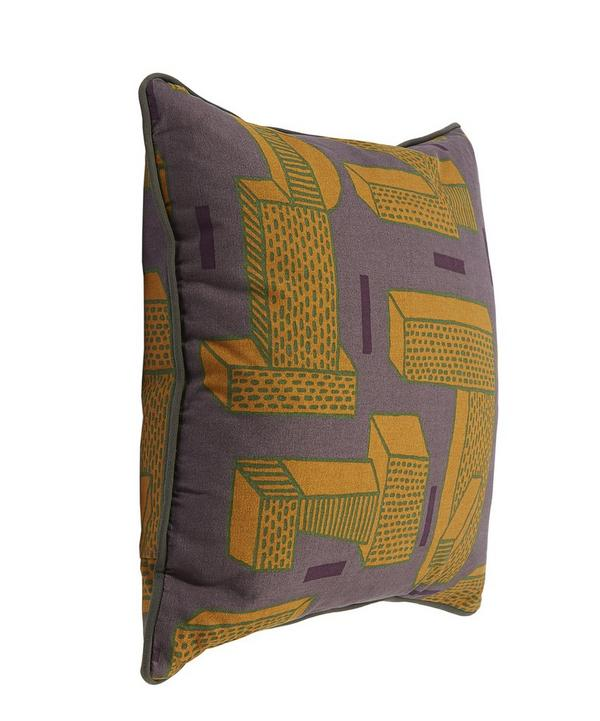 The Grass Ochre Printed Cushion