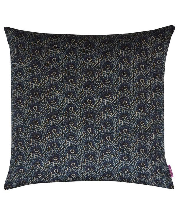 Capello Shell Vintage Velvet Cushion In Stream