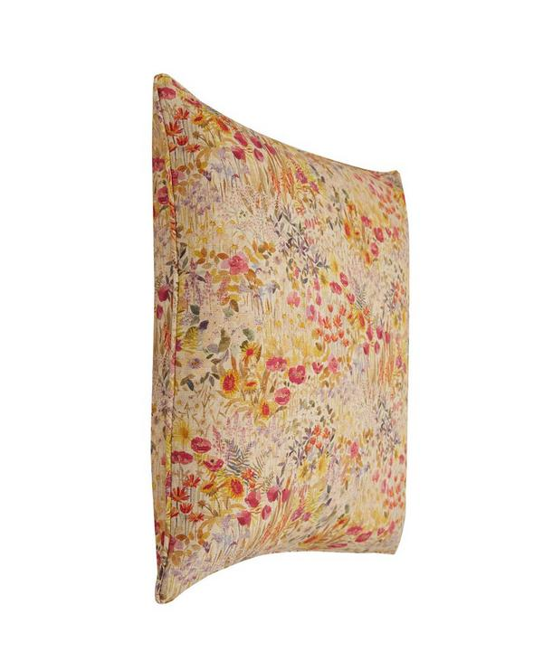 Floral Clay Linen Union Cushion In Wood Fairy