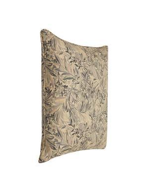 Wallace Secret Garden Linen Cushion in Grey Mist