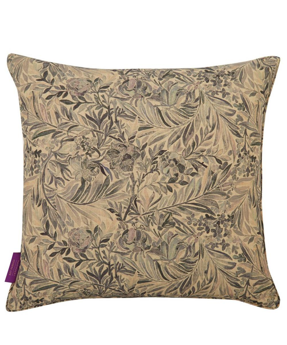 Wallace Secret Garden Linen Cushion in Grey Mist
