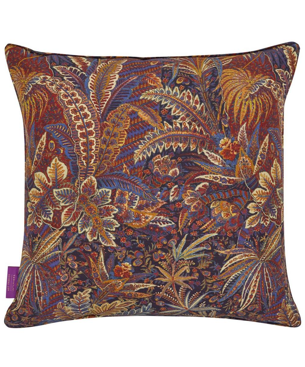 Shand Voyage Silk Linen Cushion In Carriage