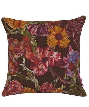 Jeffery Rose Tree Silk Linen Cushion In Wild Pony