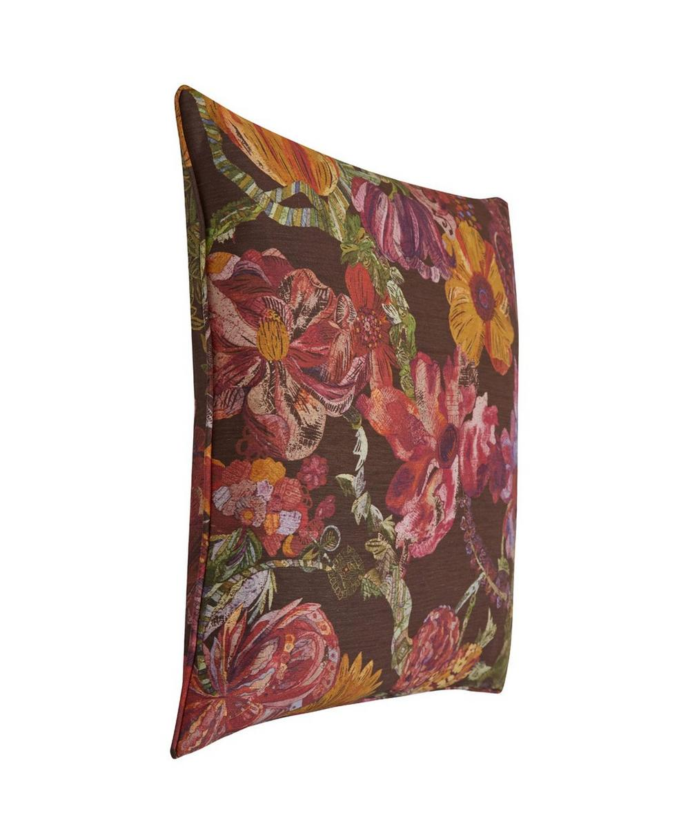 Jeffery Rose Tree Silk Linen Cushion In Wild Pony