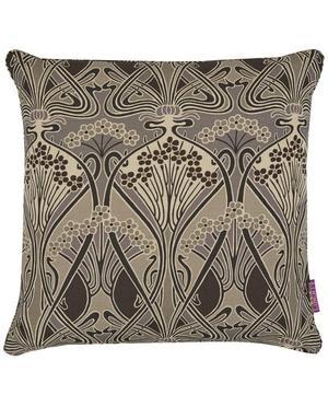 Ianthe Linen Union Cushion In Graphite