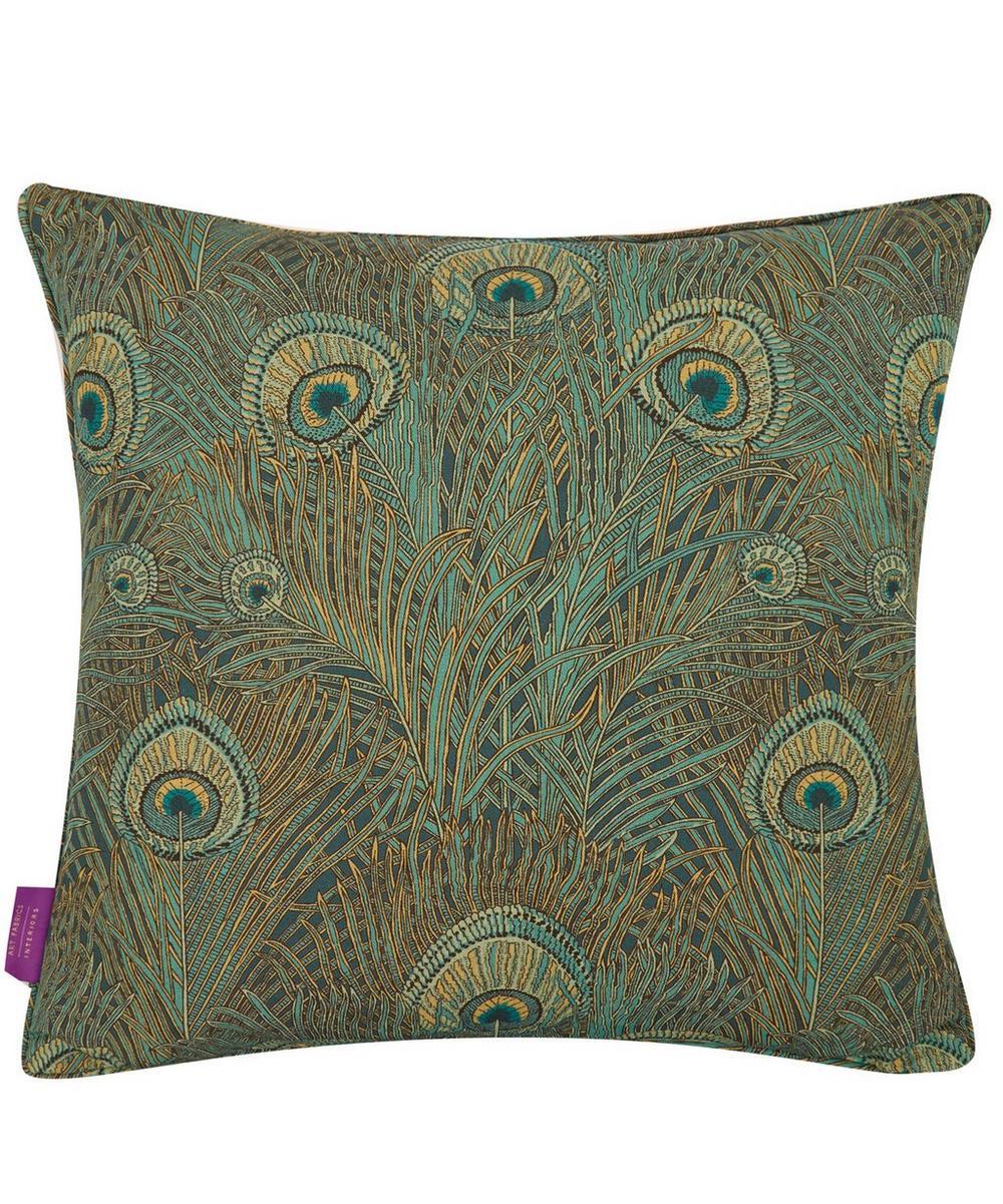 Hera Linen Cushion in Azure