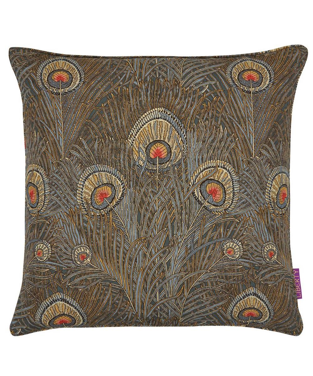Hera Linen Union Cushion In Slate