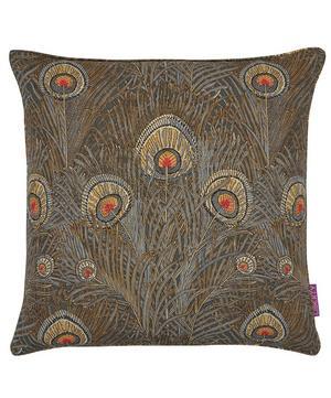 Hera Linen Union Cushion In Slate