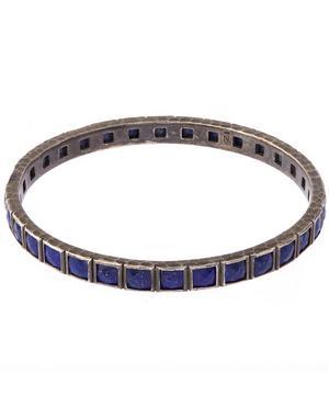 Sterling Silver Lapis Lazuli Bangle