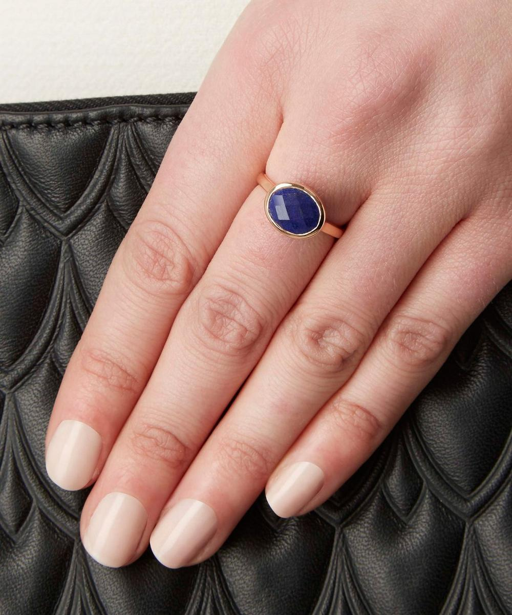 Rose Gold-Plated Lapis Candy Ring