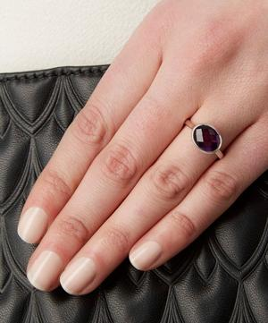 Silver Amethyst Candy Ring