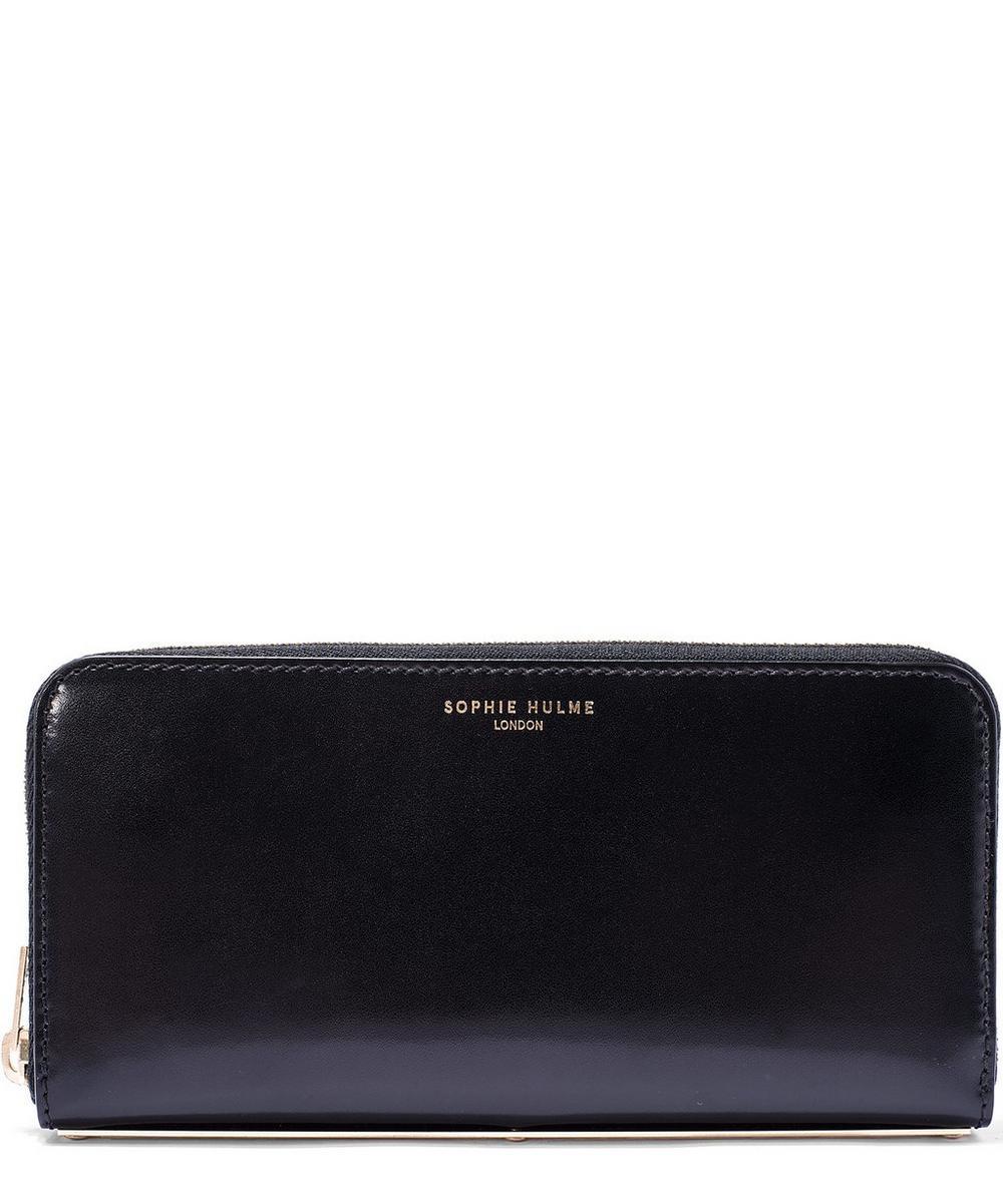 Black Long Spine Leather Wallet
