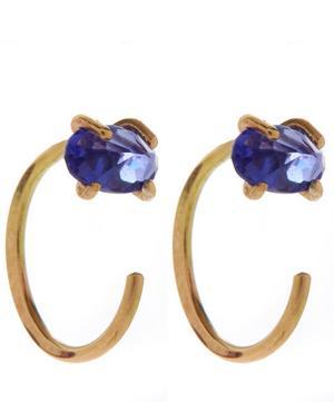 Tanzanite Hug Hoop Earrings