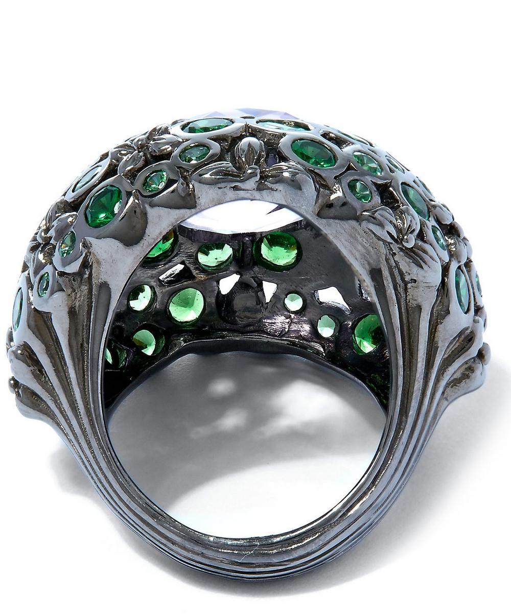 Tsavorite Amethyst Orb Ring