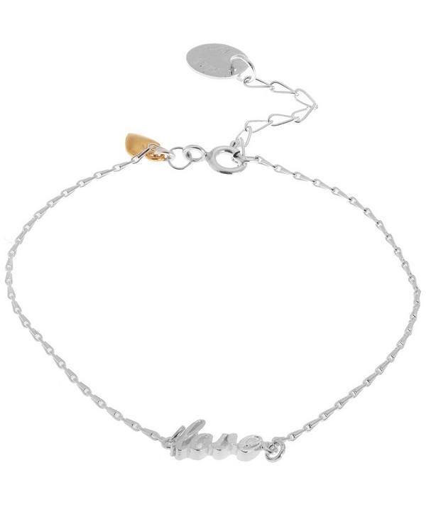 Extra Fine Silver Love Bracelet