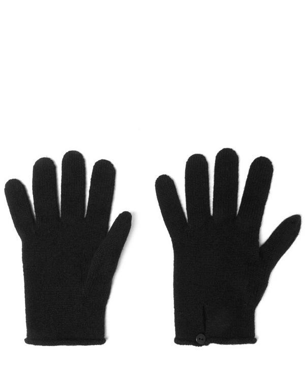Button Loop Cashmere Gloves