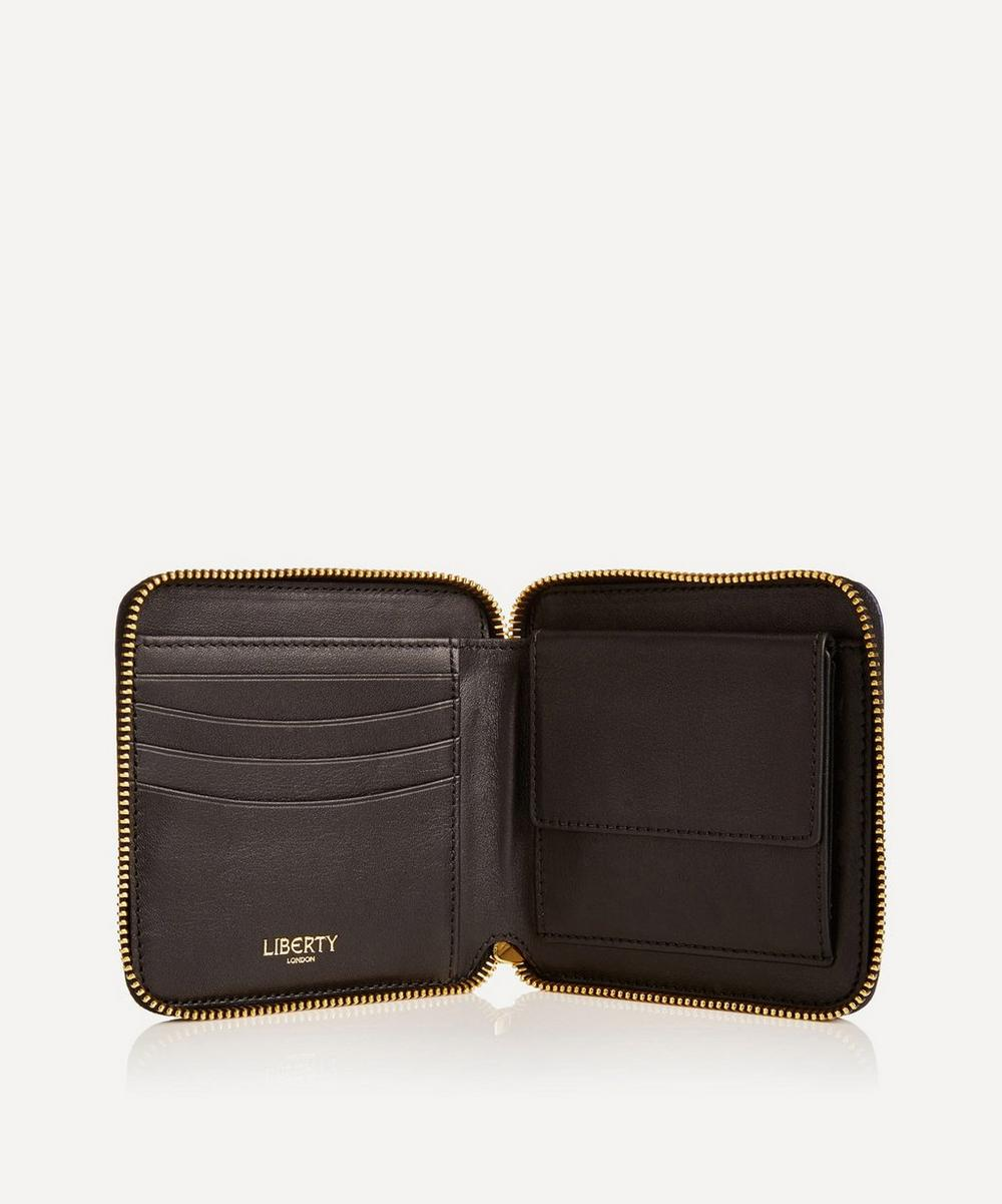 Small Iphis Leather Zip Around Wallet