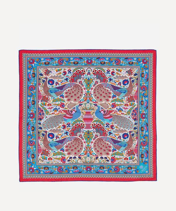 Peacock Mosaic 70 x 70 Silk Scarf