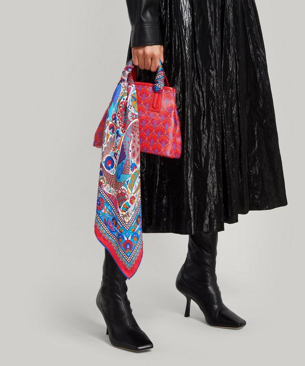 Liberty London Peacock Mosaic Silk Scarf