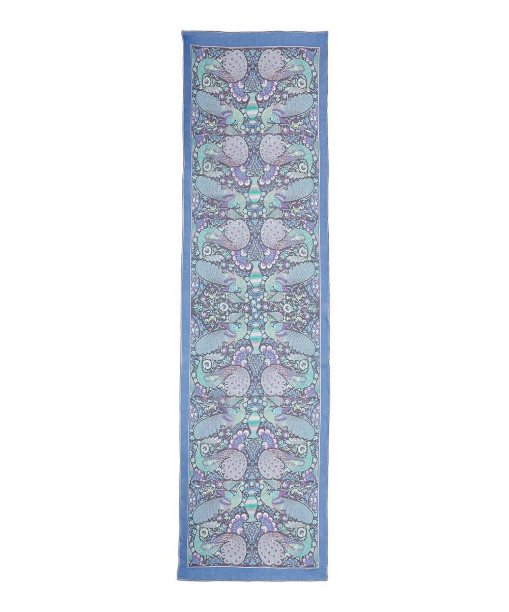 Peacock Garden Silk Scarf