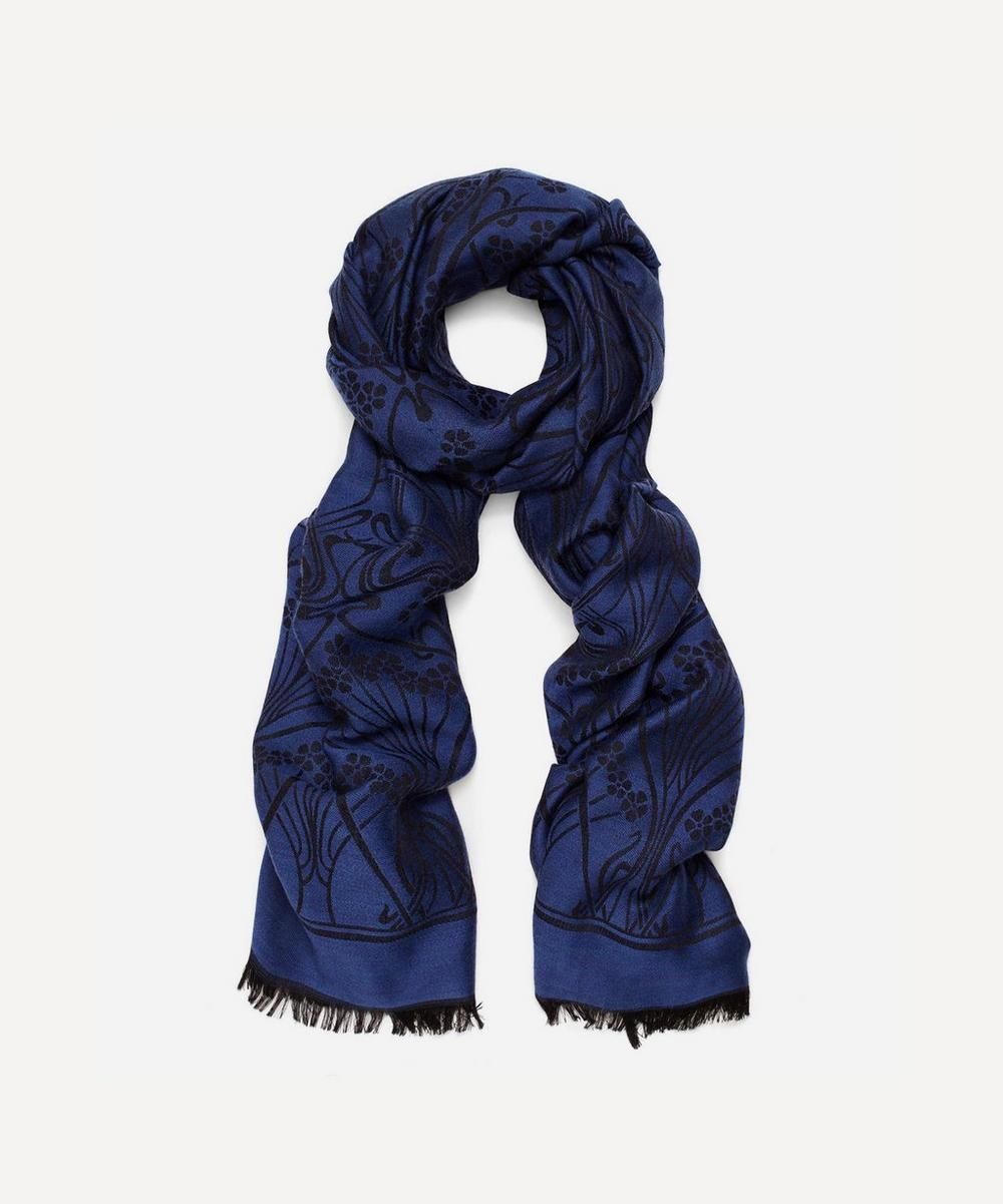 Ianthe Jacquard Wool-Blend Scarf