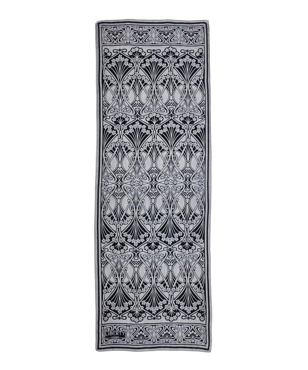Ianthe 70 x 180 Silk Devore Scarf