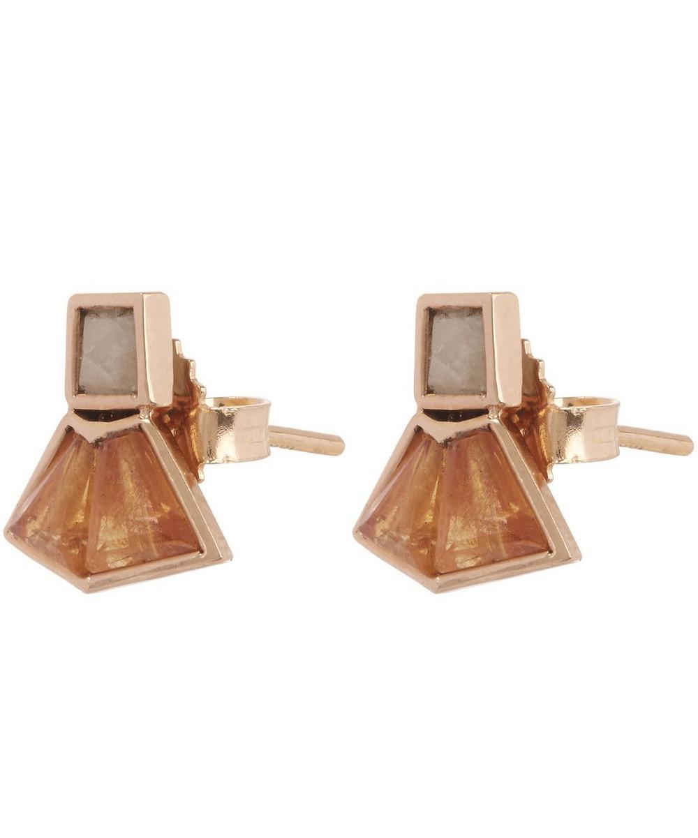 Mosaic Gemstone Stud Earrings