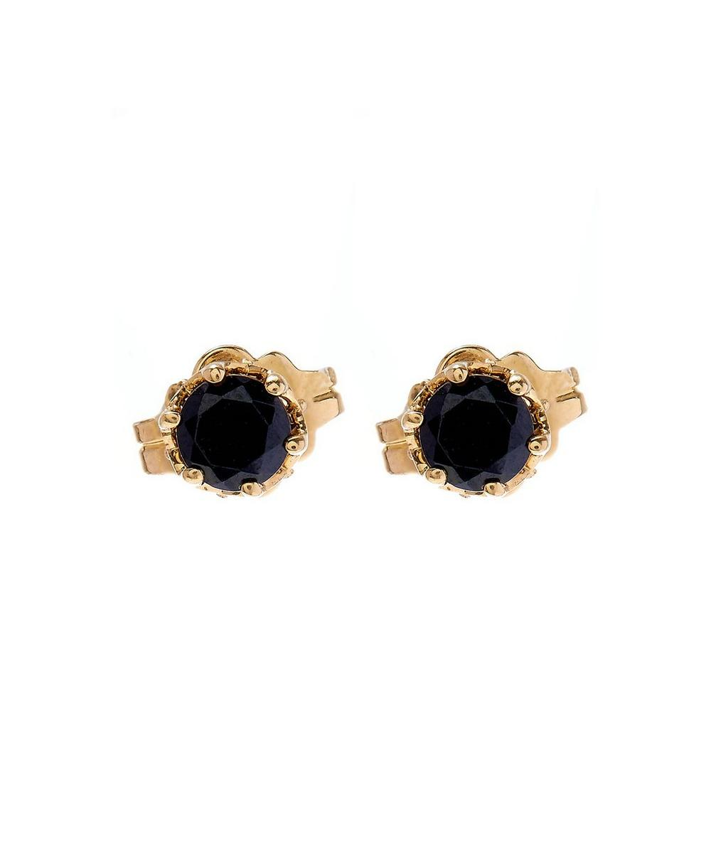 Sapphire Solitaire Stud Earrings